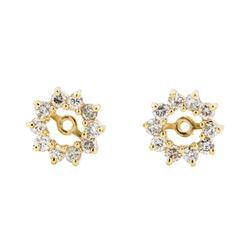 14KT Yellow Gold 0.75 ctw Diamond Earring Jackets