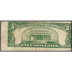 1950A $5 Federal Reserve Note Misalignment ERROR