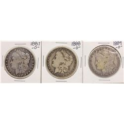 Lot of 1887-O, 1888-O & 1889-O $1 Morgan Silver Dollar Coins