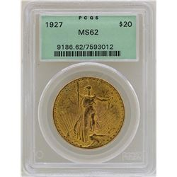 1927 $20 St. Gaudens Double Eagle Gold Coin PCGS MS62