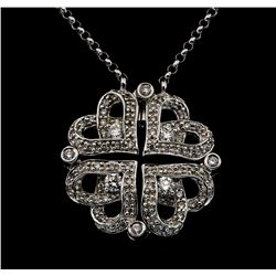 18KT White Gold 0.73 ctw Diamond Pendant with Chain