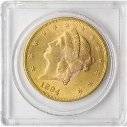 1894 $20 Liberty Head Double Eagle Gold Coin