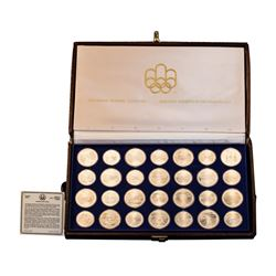 1976 (28) Coin Canada Olympic Montreal Uncirculated Sterling Silver Set