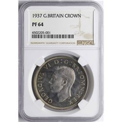 1937 Great Britain Crown Proof Coin NGC PF64