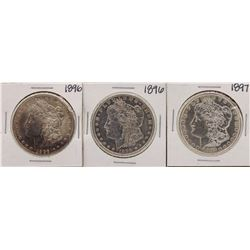 Lot of 1896, 1896 & 1897 $1 Morgan Silver Dollar Coins