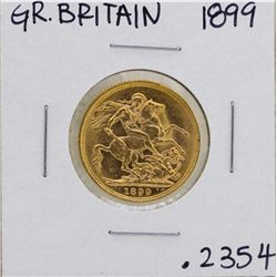 1899 Great Britain Queen Victoria Sovereign Gold Coin