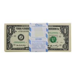 Pack of (100) Consecutive 2006 $1 Federal Reserve STAR Notes Kansas City