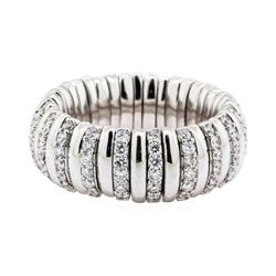18KT White Gold 1.50 ctw Diamond Stretch Band