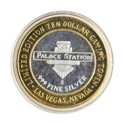 .999 Silver Palace Station Hotel & Casino Las Vegas $10 Limited Edition Gaming T