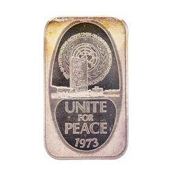 1973 Unite for Peace 1 oz .999 Fine Silver Art Bar