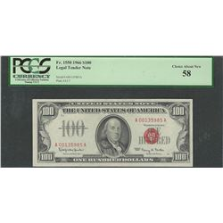 1966 $100 Legal Tender Note Fr.1550 PCGS Choice About New 58