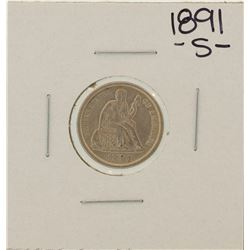 1891-S Seated Liberty Dime Coin