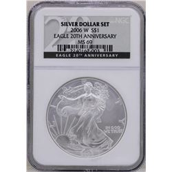 2006-W $1 American Silver Eagle Coin NGC MS69