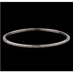 2.00 ctw Diamond Bangle Bracelet - 18KT White Gold