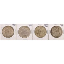 Lot of (4) $1 Morgan Silver Dollar Coins