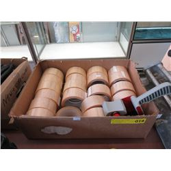 "Case of 20 Rolls of 2"" Tape with Tape Gun"