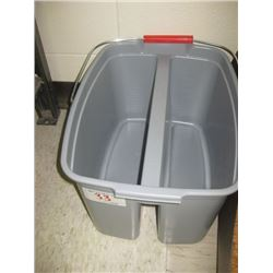 Grey Two Sided Cleaning Bucket w/Handle