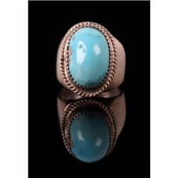 Navajo Sleeping Beauty Turquoise Sterling Ring