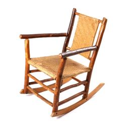 Antique Indiana Willow Co. Hickory Rocking Chair