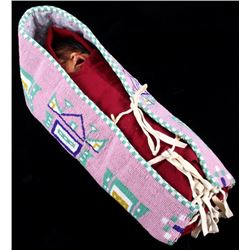 Cheyenne FULLY Beaded Cradle Papoose Montana
