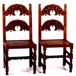 19th Century Antique Jacobean Dining Chairs