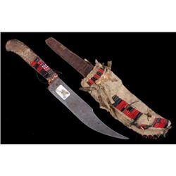 Flathead Indian Squaw Dagger & Sheath c. 1900
