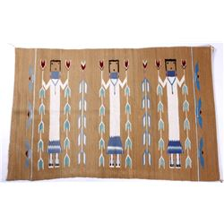 Navajo Polychrome Yei Rug Early 1900