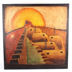 Pueblo Indian Village by Glen Johnson