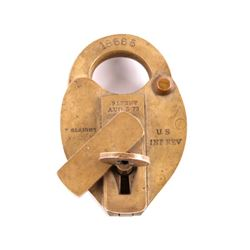 Slaight U.S. Internal Revenue Seal Padlock w/ Key