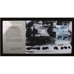 Porcelain Enamel Yellowstone Winter Herd Infograph