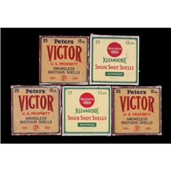 Peters Victor & Remington Kleanbore 12 GA Boxes