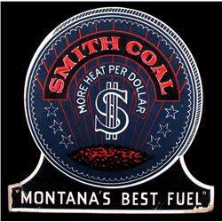 "Smith Coal ""Montana's Best Fuel"" Counter Top Sign"