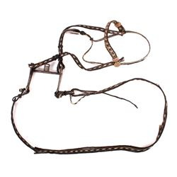 19th C Utah Prison Made Horse Hair Headstall & Bit