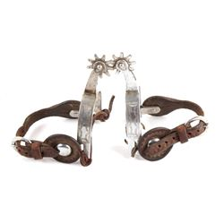 Nickel Finished Rodeo Spurs
