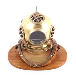 Vintage Miniature Replica Bronze Diving Helmet
