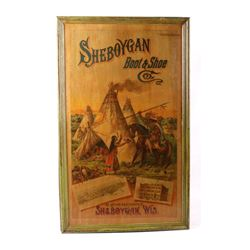 Sheboygan Boot & Shoe Co. Vintage Advertising Sign