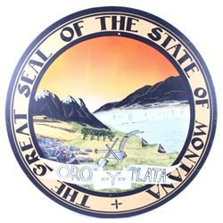 Hand Painted Great Seal of the State of Montana