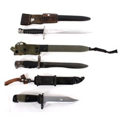 Collection of Three Multi National Bayonets