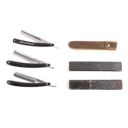Collection of Three Straight Razors with Cases