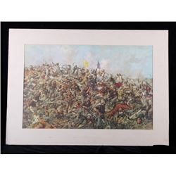 Custer's Last Stand Print by Edward S. Paxson