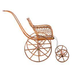 Early 1900s Wicker Stick & Ball Baby Doll Carriage