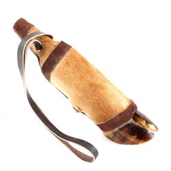 Elk Hoof Bottle Reproduction with Leather Strap