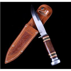Aerial Drop Point Knife w/ Leather Scabbard