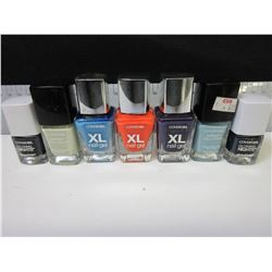 7 New Assorted Covergirl Nail Polish / XL GEL / Outlast and Glowing nights