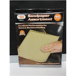 New Case of 40 Sandpaper / Assorted grits / 60-100-150-240 grits