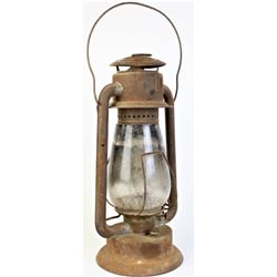 Early barn lantern with original glass intact.
