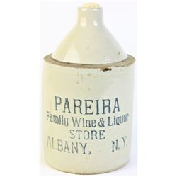 Early advertising whiskey jug