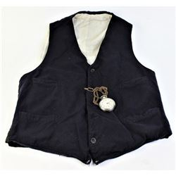Early old west period wool pocketed vest,