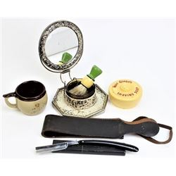 Shaving collection includes vintage folding mirror