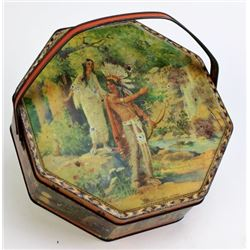 Old Loose Wiles octagon biscuit tin